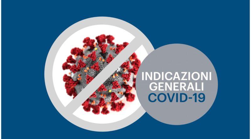 INDICAZIONI GENERALI COVID 19 OK